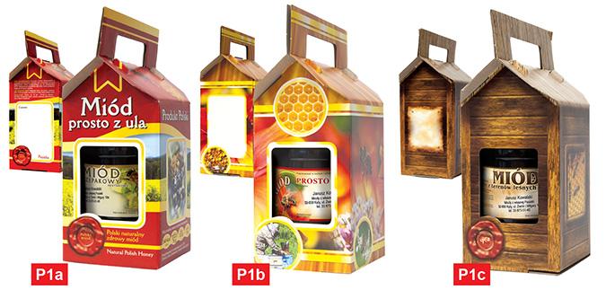 Pobierz obrazki: pudełka na słoiki z miodem